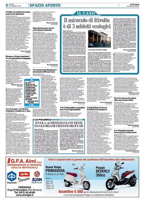 lettere al lettere al giornale la provincia