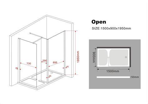 Kleiderschrank Schiebetüren 150 Cm by Schneckendusche Open 150 X 90 X 200 Cm Inkl Duschtasse