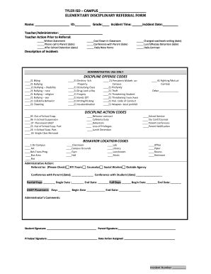 discipline report template school progress report template forms fillable