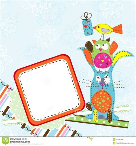 Template Birthday Greeting Card Vector Stock Vector Image 21650184 Card Vector Template