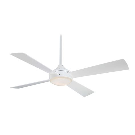 Modern Ceiling Fan With Light With White Glass F521 Whf White Modern Ceiling Fan