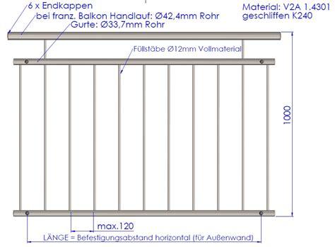 balkon handlauf edelstahl handl 228 ufe gel 228 nder aus edelstahl made in