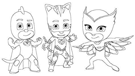 pj masks gekko coloring pages pj masks connor amaya and greg disguised as catboy