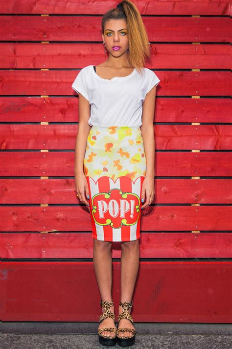 pop midi skirt thing