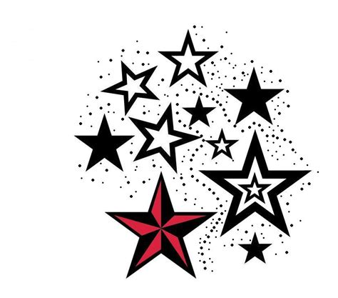 nautical star tattoos designs colored nautical tattoos designs