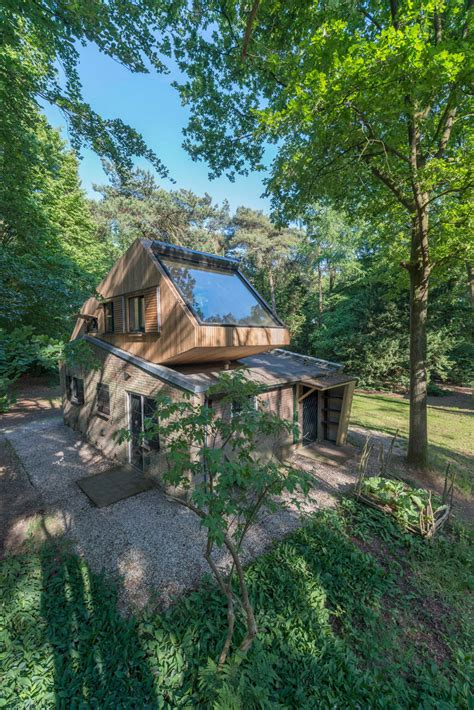 by the nearby forest and the bordeaux home shirt for the stadium netherlands modern holiday house in the forest design milk