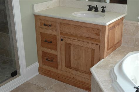 Hickory Vanity Cabinet by Hickory Cabinets Traditional Bathroom Chicago By Custom Corners Llc