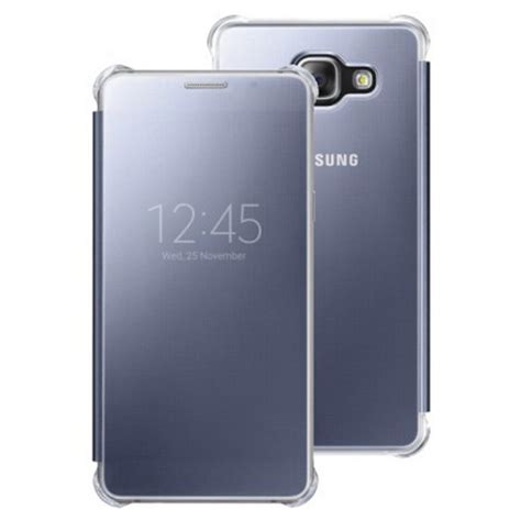 Samsung A710 2016 Mirror Cover Flip For Samsung Galaxy S7 Flat 32 official samsung galaxy a7 2016 sm a710 clear view cover