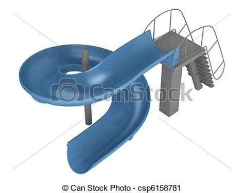 Home Plans With Pools clipart of waterslide isolated on white background