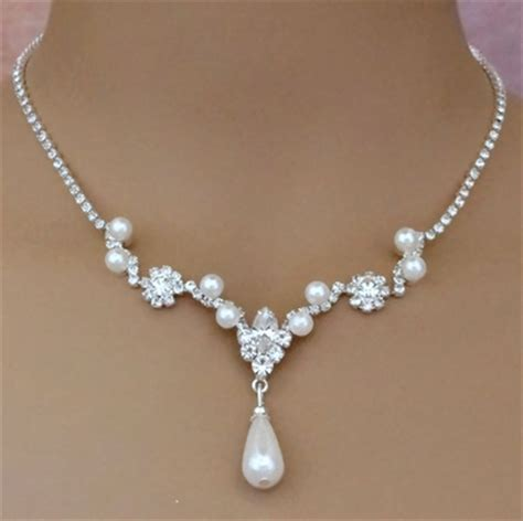 Halskette Hochzeit by Bridal Necklace Set Ideal Weddings