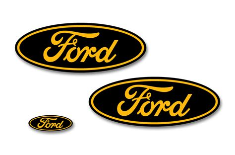 Decal Sticker Dtracker 150 Yellow Racing ford f 150 colored oval emblem overlay decals 2015 2018