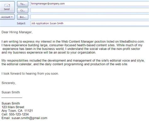 formats sending job search emails job