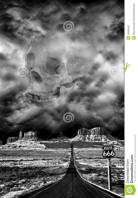 highway  hell route  halloween evil devil royalty  stock photography image