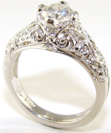Antique Engagement Rings by Moissanite Vintage Engagement Rings Ipunya