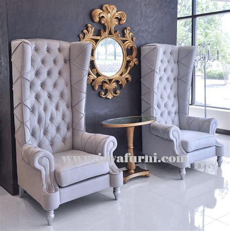 Kursi Tinggi Bayi kursi sofa wing sandaran tinggi jayafurni mebel jepara