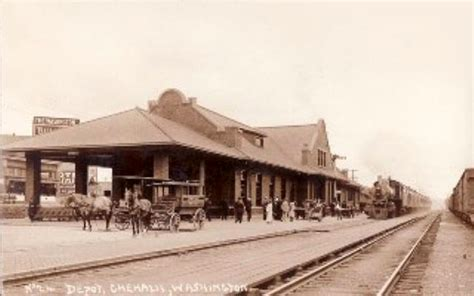 depot chehalis washington early 1900s photo