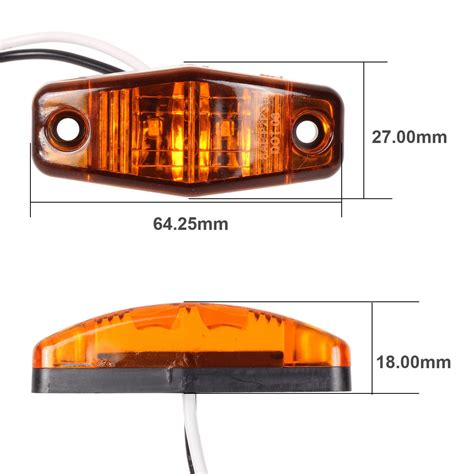 boat marker lights trailer boat led light kit red stop turn tail red amber