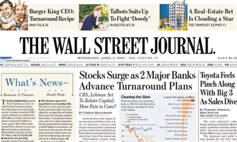 wall street journal sections news corporation to launch us edition of wall street