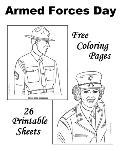 Armed Forces Day Coloring Sheets and Pictures!
