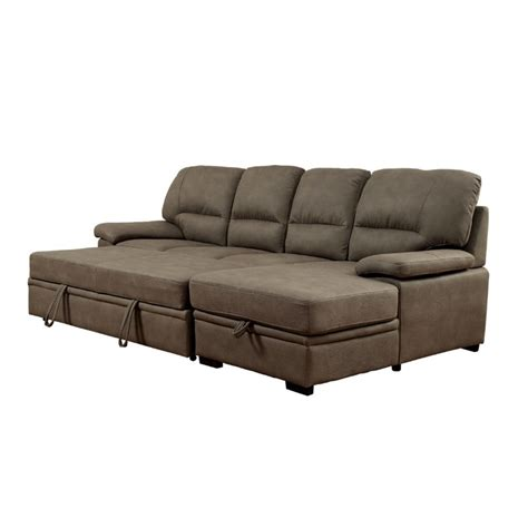 modern convertible sofas furniture of america clair modern convertible sectional in