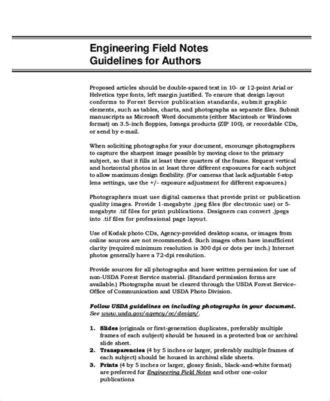 observation field notes template field note sle 7 exles in word pdf