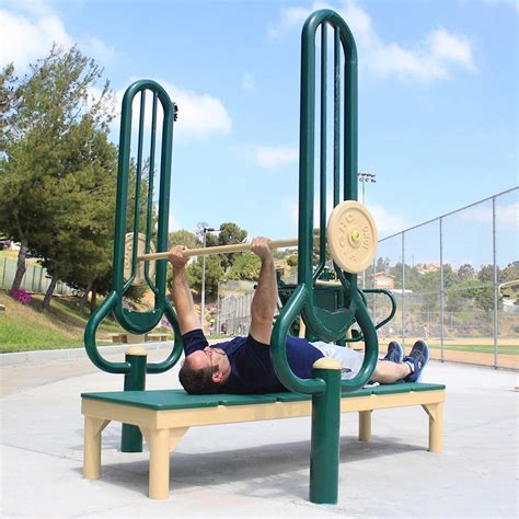 outdoor bench press bench press greenfields outdoor fitness