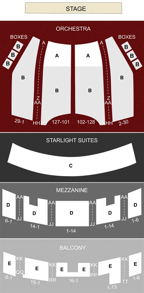 majestic theater san antonio seat numbers majestic theatre san antonio tx seating chart stage