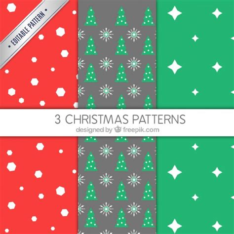 christmas patterns year 1 collection of geometric christmas patterns vector free