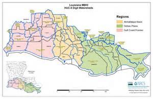 louisiana huc map migratory bird habitat initiative mbhi nrcs