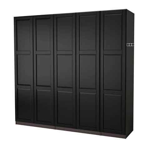ikea fitted wardrobes pax wardrobe black brown undredal black 250x60x201 cm ikea