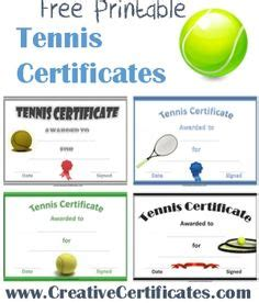 tennis certificate template free 1000 images about sports awards on award