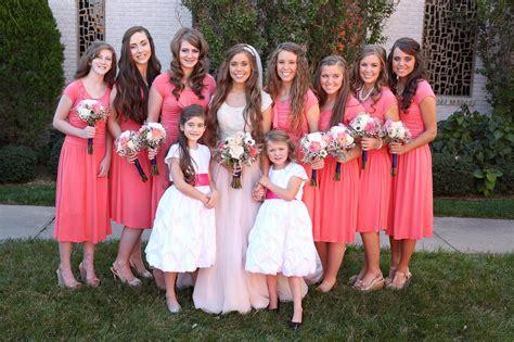 ben seewald and jessa duggar wedding jessa duggar and ben seewald wedding the bridesmaids