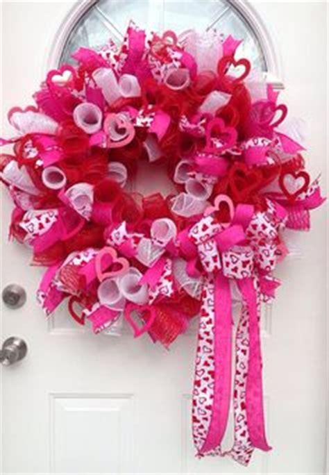 valentine wreath, mesh wreaths and wreaths on pinterest