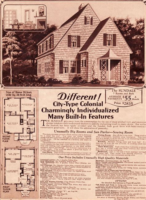1930 Sundale Montgomery Ward Eclectic Colonial Montgomery Ward House Plans