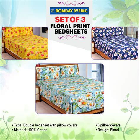 bedsheets buy bedsheets online at best prices in india buy bombay dyeing set of 3 floral print bedsheets online