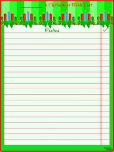 Wish List Template Free Printable by Best Photos Of Wish List Printable Template