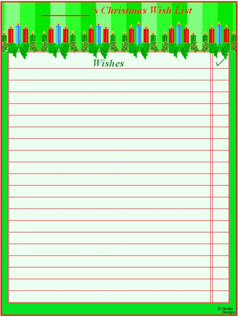 6 best images of free printable christmas wish list