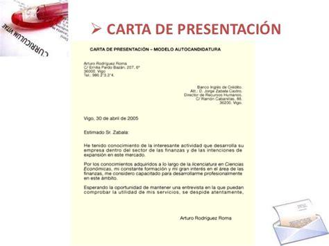 cv y carta de presentaci 243 n