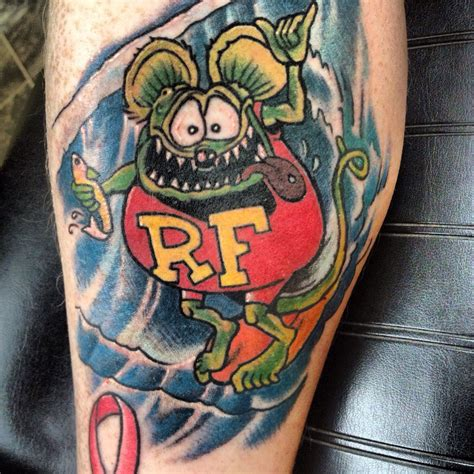 rat fink tattoo rat fink by strange ratfink tattoos by