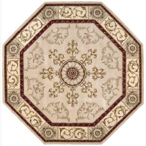 6 octagon rug nourison tufted versailles palace beige rug 6 x