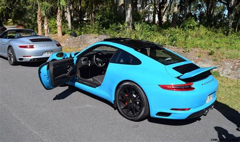 miami blue porsche targa 4 2s 350hp 2017 porsche 718 caymans revealed boosted