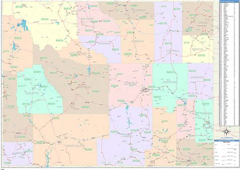 zip code map jackson wy wyoming state zip code map