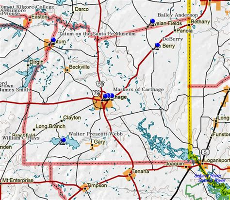 map of carthage texas fort tours panola county historical markers