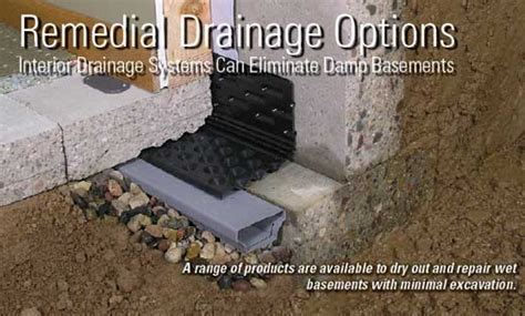 interior basement drainage remedial drainage options interior drainage systems can
