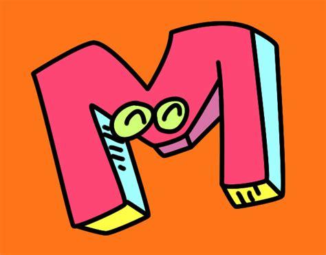 desenho de letra m pintado desenho de letra m pintado e colorido por usu 225 n 227 o registrado o dia 19 de mar 231 o do 2016