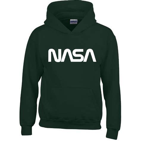 Hoodie Nasa Logo Black mens boy unisex nasa hoodies sweatshirt pullover sweat