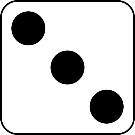 three black and white number 3 dice clipart black and white clipground