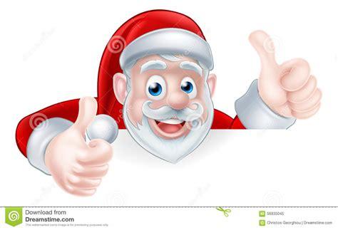 up santa thumbs up santa stock vector image 56935045
