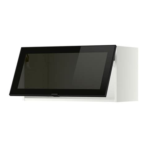 wandschrank horizontal ikea metod wall cab horizontal w glass door white jutis