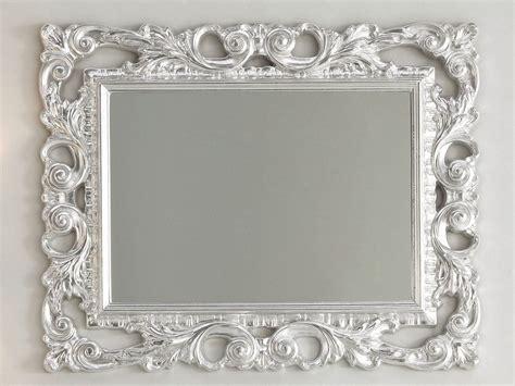 cornici barocche per specchi specchio barocco 94x75 foglia argento iperceramica